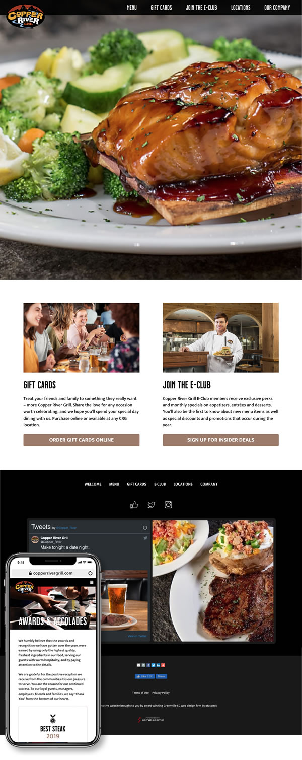 Copper River Grill Website Design